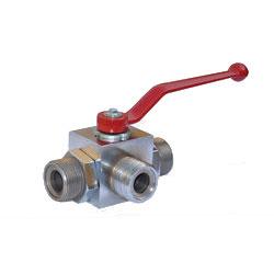 QJH型外螺纹带焊接管高压三通球芯截止阀