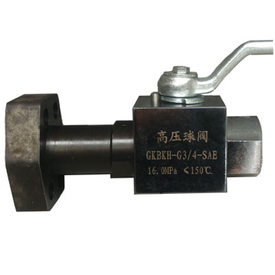 内螺纹-SAE法兰高压球阀-GKBKHG-3/4-SAE-160C