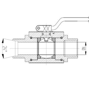 内螺纹-24度锥高压球阀-GKBKHG3/4-M30*2-24°-320P
