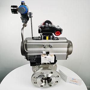 VQ647Y-16P不锈钢气动V型切断球阀