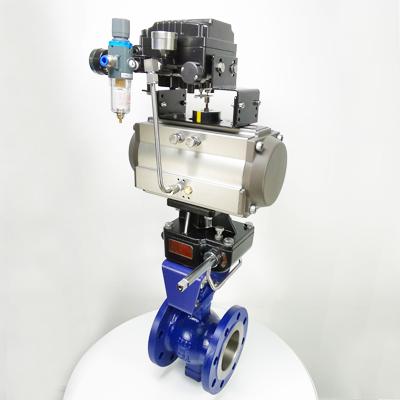 TQV647Y-16C 气动V型调节球阀