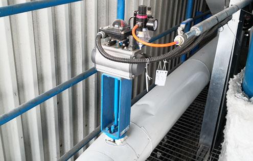 气动高温蝶阀-国电菏泽电厂喷氨优化项目