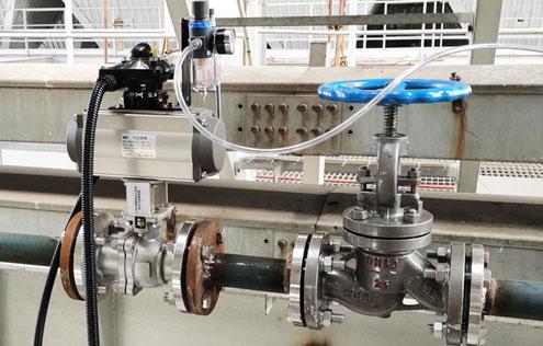 气动切断球阀-电厂烟气喷氨优化项目