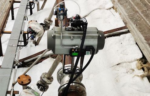 VQ647Y-16P-DN100-V型气动取样球阀-电厂烟气取样喷氨