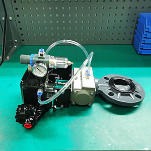 TD671X-10U-气动UPVC蝶阀-化工耐酸碱阀门