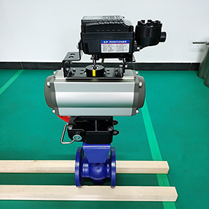 QV647H-16C-V型气动调节球阀
