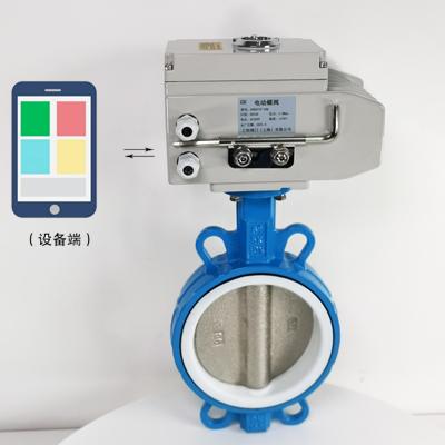 GHWXD971F-10Q-4G型无线电动开关对夹式蝶阀/无线电动