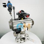 VQ647Y-16P不锈钢气动V型切断阀-气动V型调节球阀